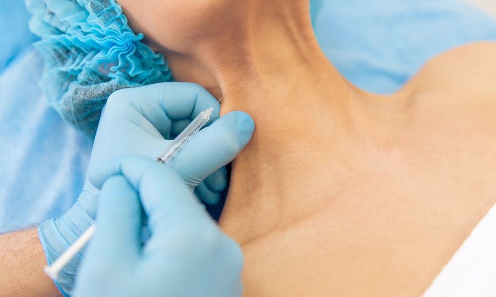 Neck Treatments Using Botox or Dermal Fillers